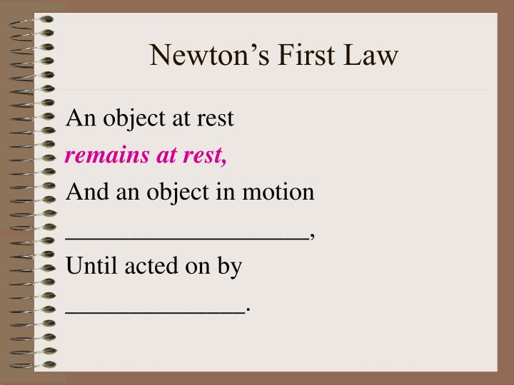 Newton s first law2