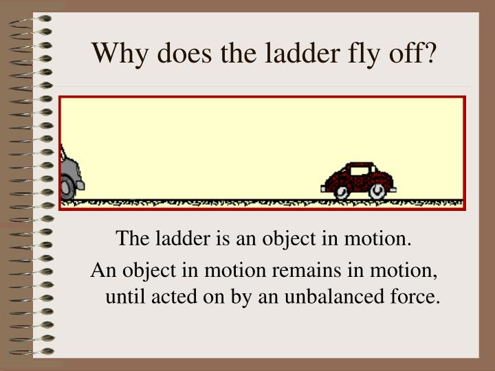 Why does the ladder fly off?