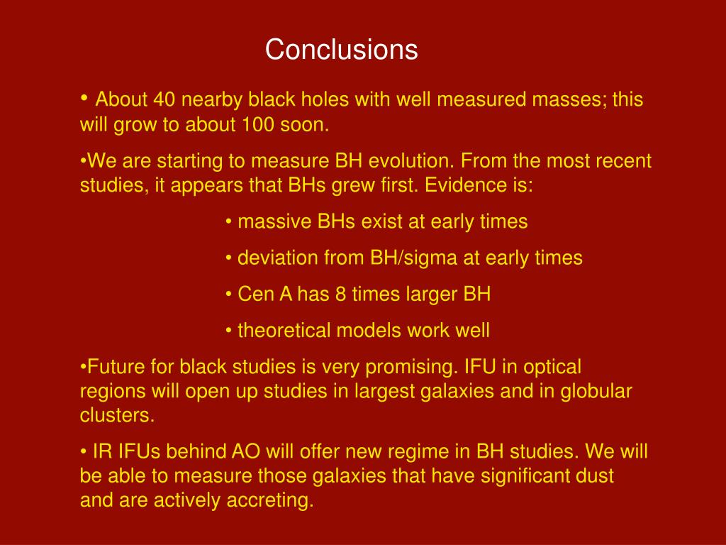 PPT - Black Holes and the Fundamental Correlations