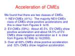 acceleration of cmes
