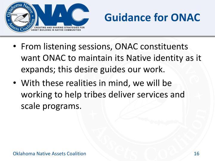 Guidance for ONAC