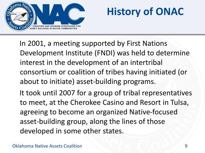 History of ONAC