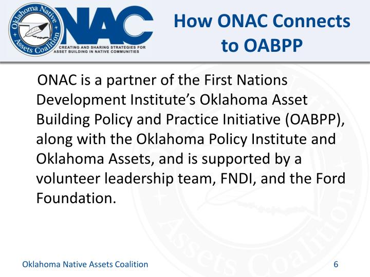 How ONAC Connects to OABPP