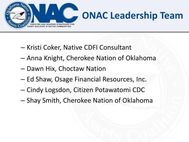 ONAC Leadership Team