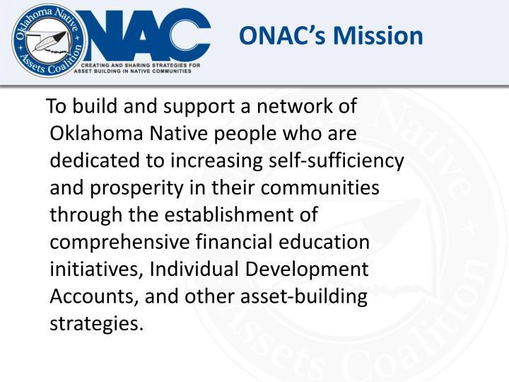 ONAC's Mission