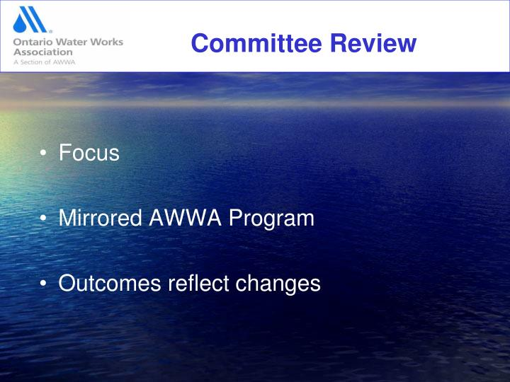 Committee Review