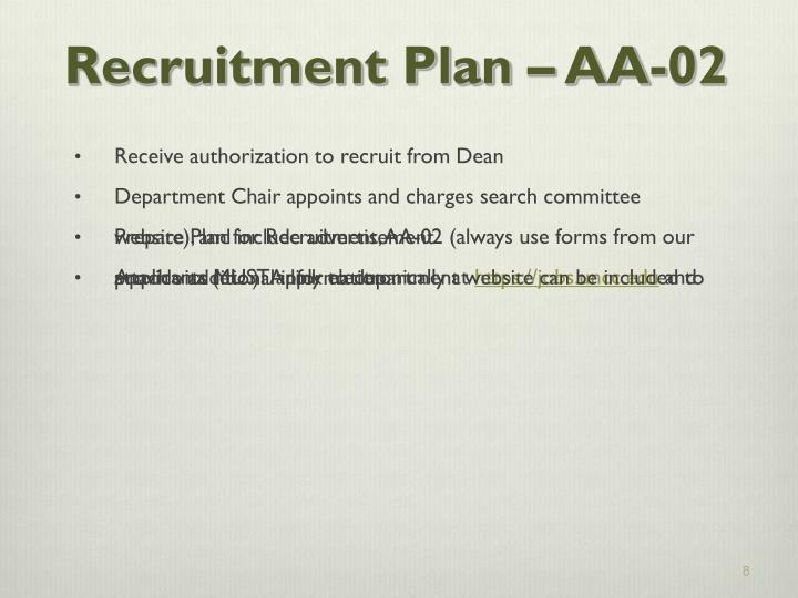 Recruitment Plan – AA-02