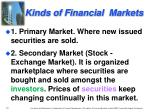 kinds of financial markets1