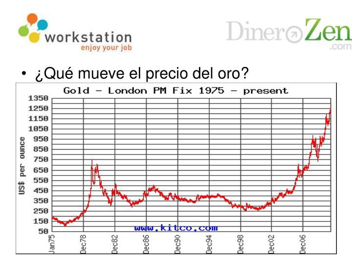 ¿Qué mueve el precio del oro?