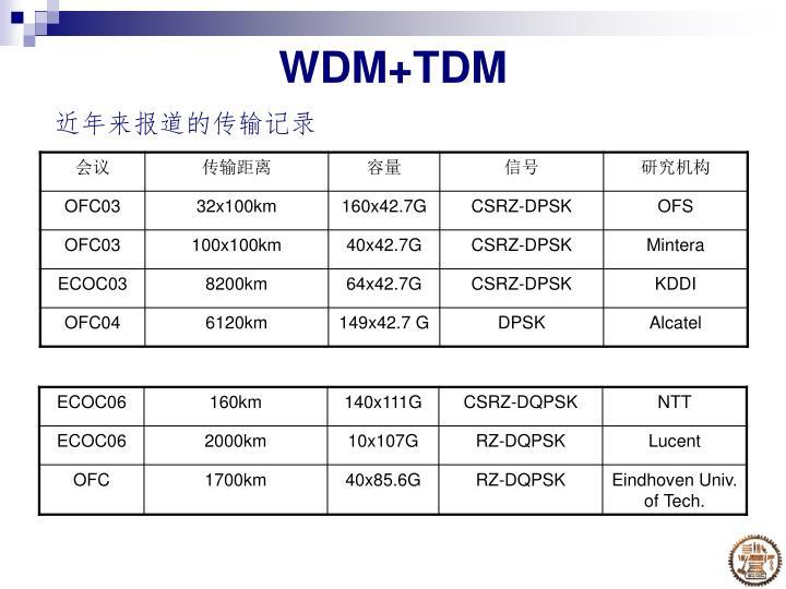 WDM+TDM