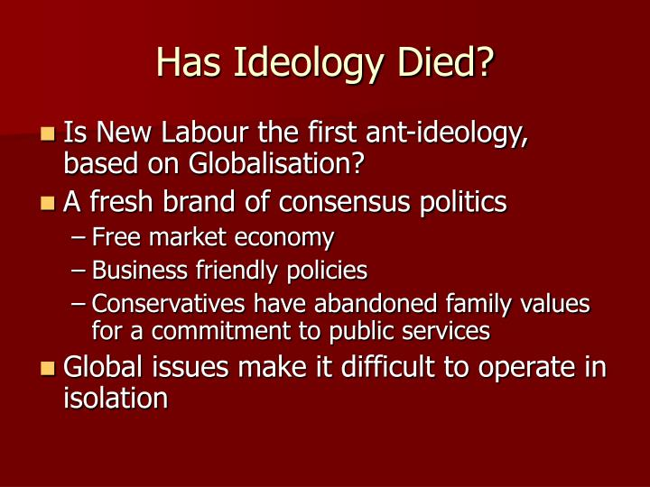 Has Ideology Died?