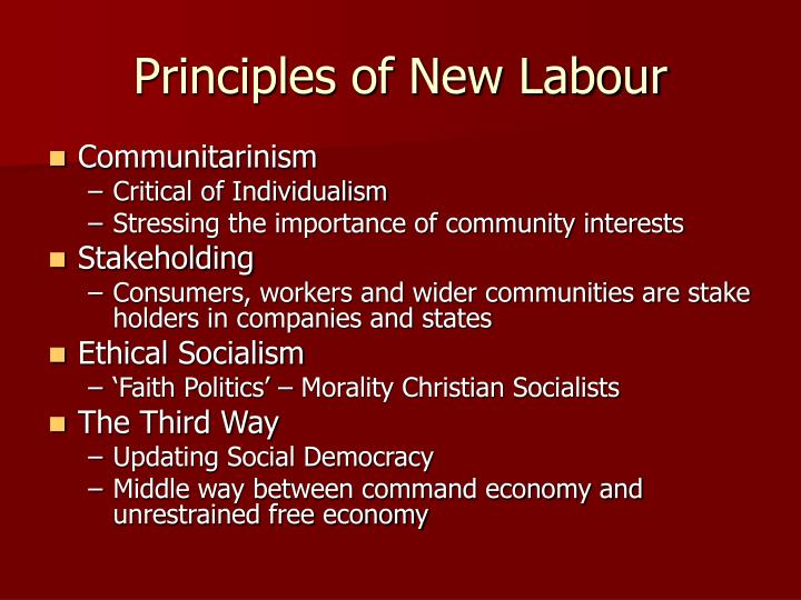 Principles of New Labour