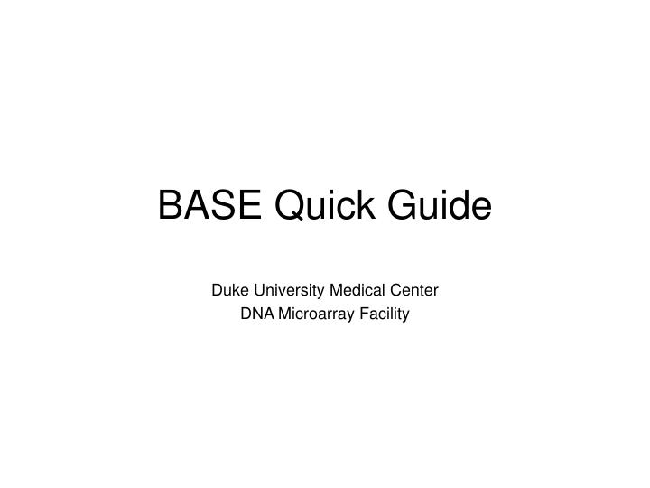Base quick guide
