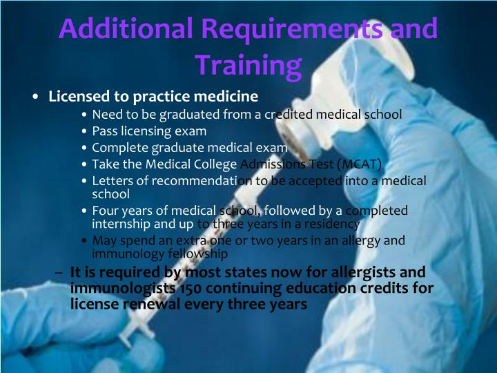 Additional Requirements and Training