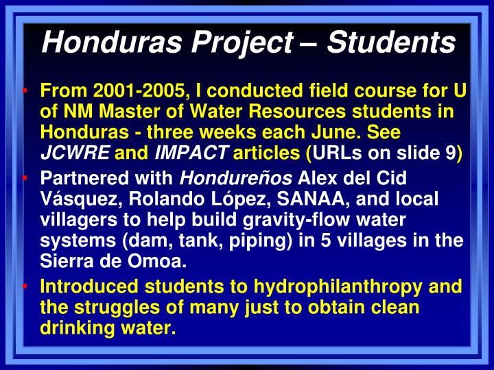 Honduras Project – Students