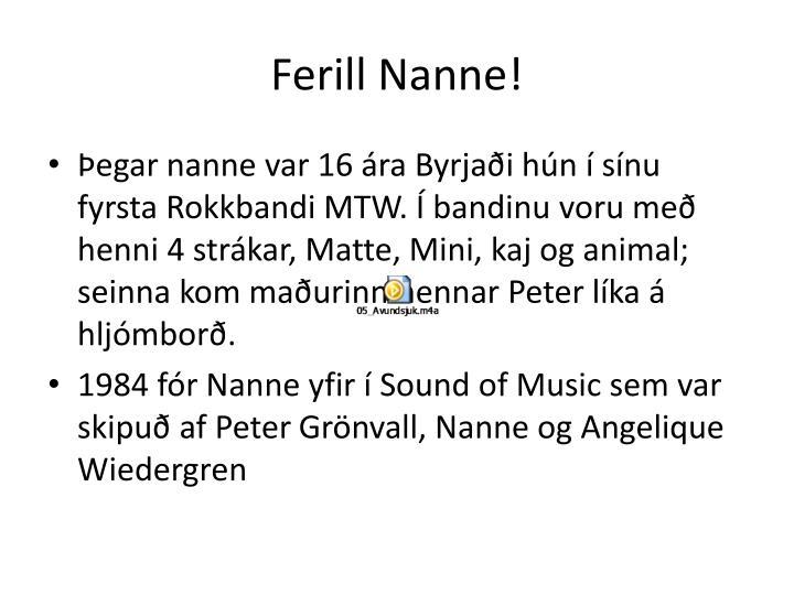 Ferill nanne