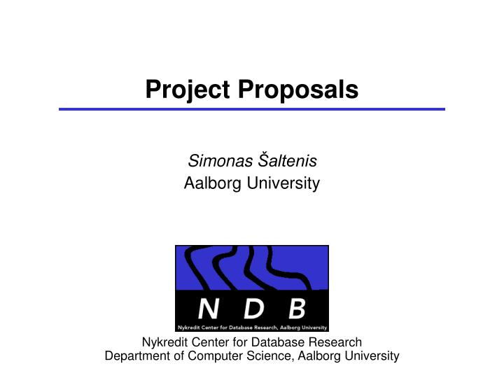 project proposals n.