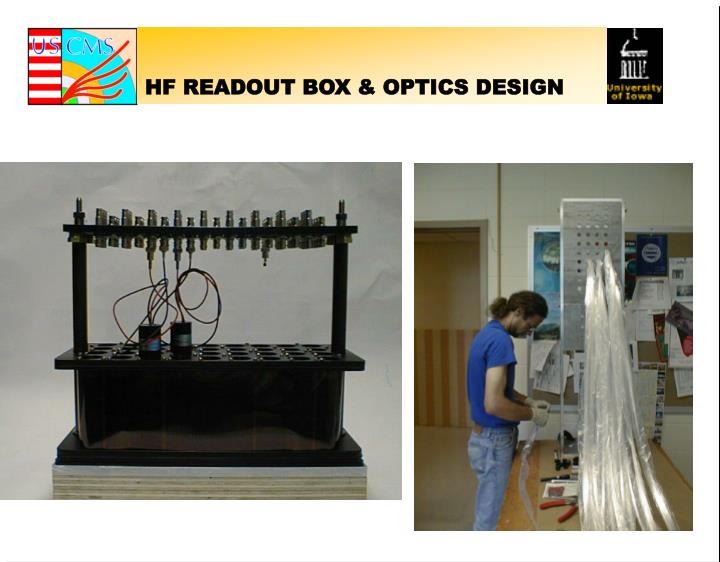 HF READOUT BOX & OPTICS DESIGN