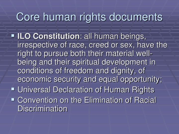 Core human rights documents