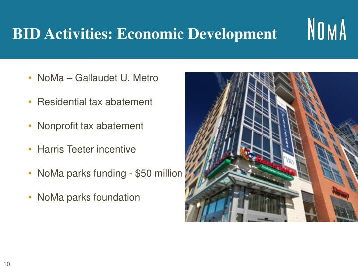 BID Activities: Economic Development