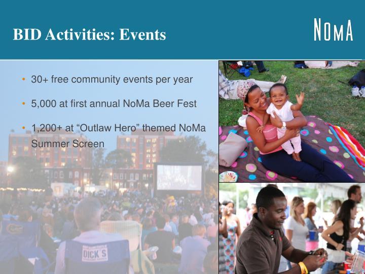 BID Activities: Events