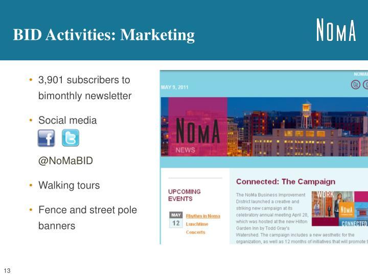 BID Activities: Marketing