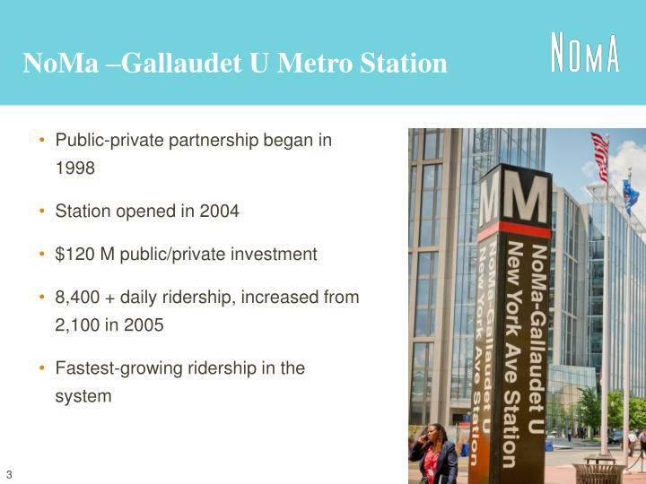 NoMa –Gallaudet U Metro Station