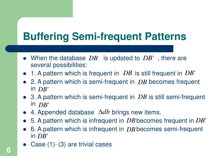 Buffering Semi-frequent Patterns