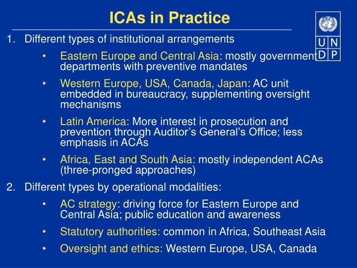 ICAs in Practice