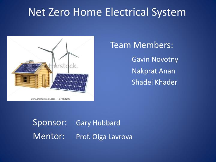 Net zero home electrical system