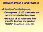 between phase i and phase ii