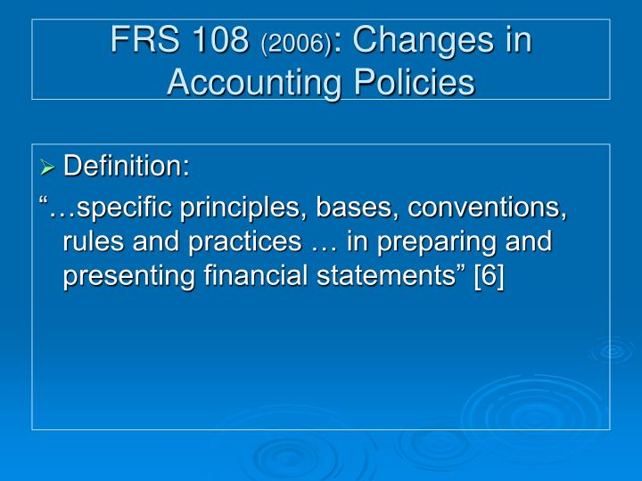 FRS 108