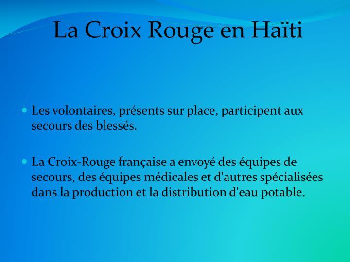 La Croix Rouge en Haïti