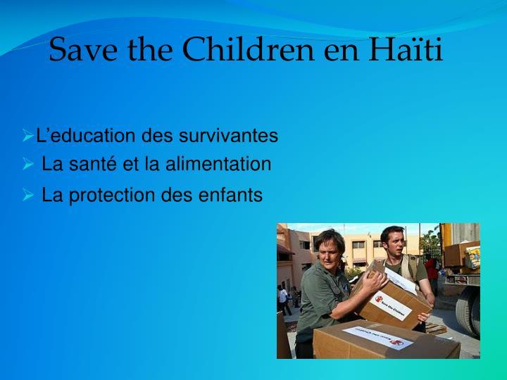 Save the Children en Haïti