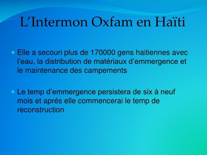 L'Intermon Oxfam en Haïti
