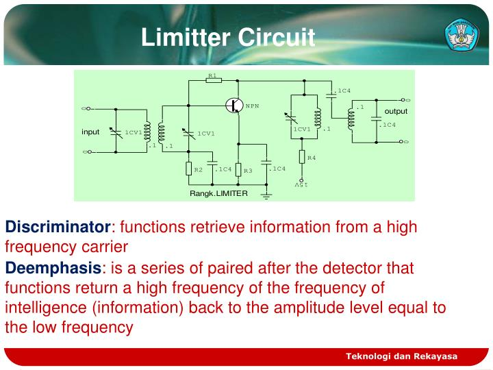 Ppt work principle of fm radio receiver powerpoint presentation limitter circuit ccuart Gallery