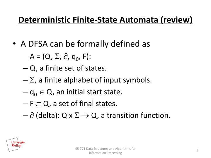 Ppt Finite State Machines 2 Powerpoint Presentation Id4522603