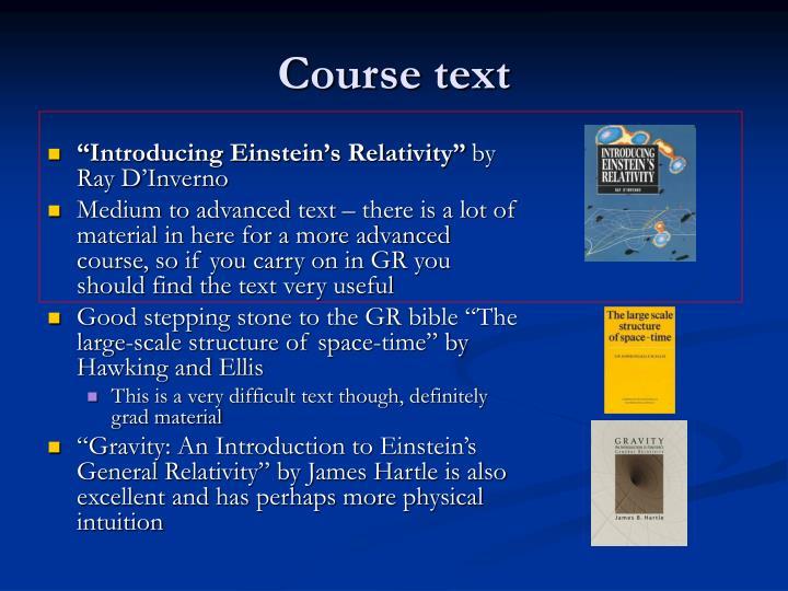 Course text