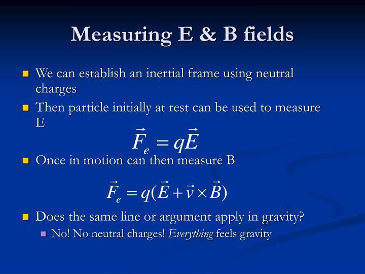 Measuring E & B fields