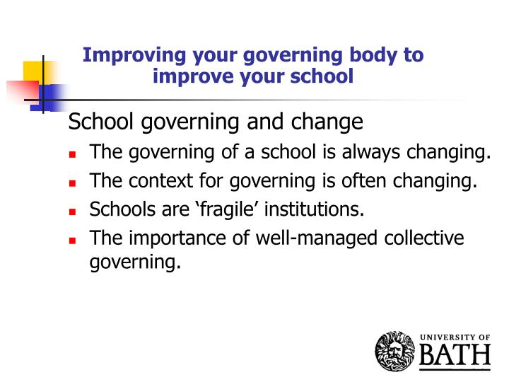 Improving your governing body to improve your school1