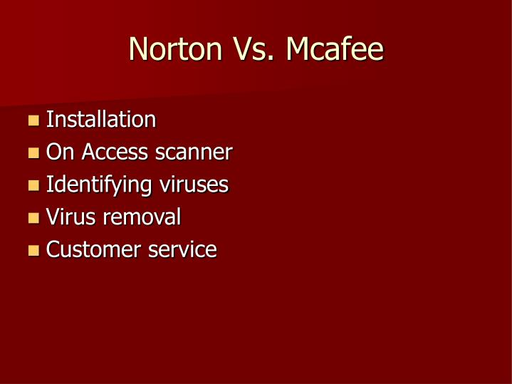 Norton Vs. Mcafee