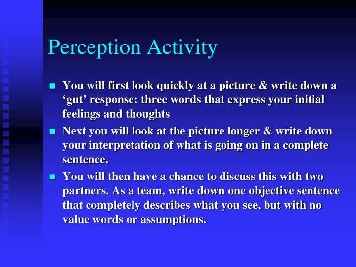 Perception Activity