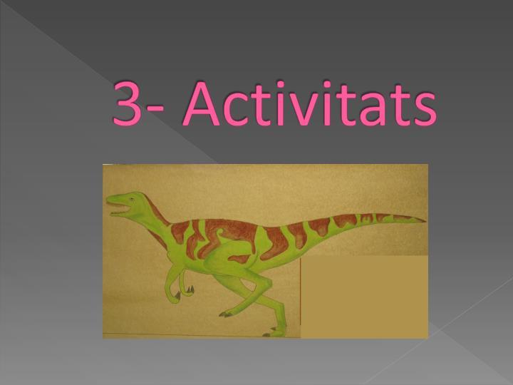 3- Activitats