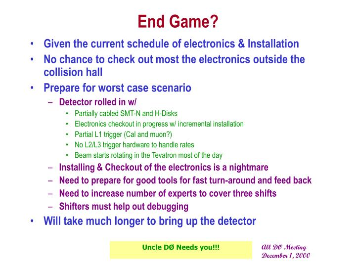 End Game?