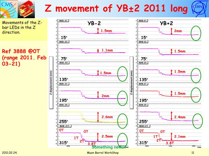 Z movement of YB±2 2011 long