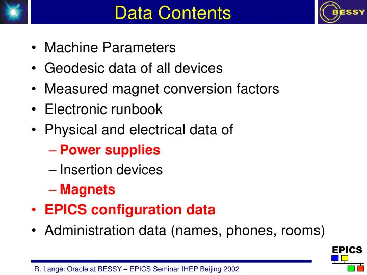 Data Contents