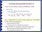 learning selectional restrictions 3