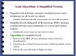 lesk algorithm a simplified version