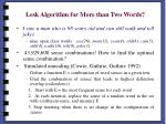 lesk algorithm for more than two words