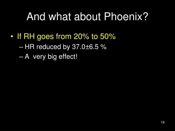 And what about Phoenix?